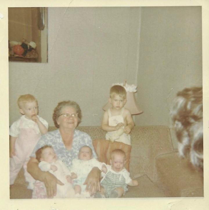 Baba Melnyk and the Kostelnik grandchildren 1964