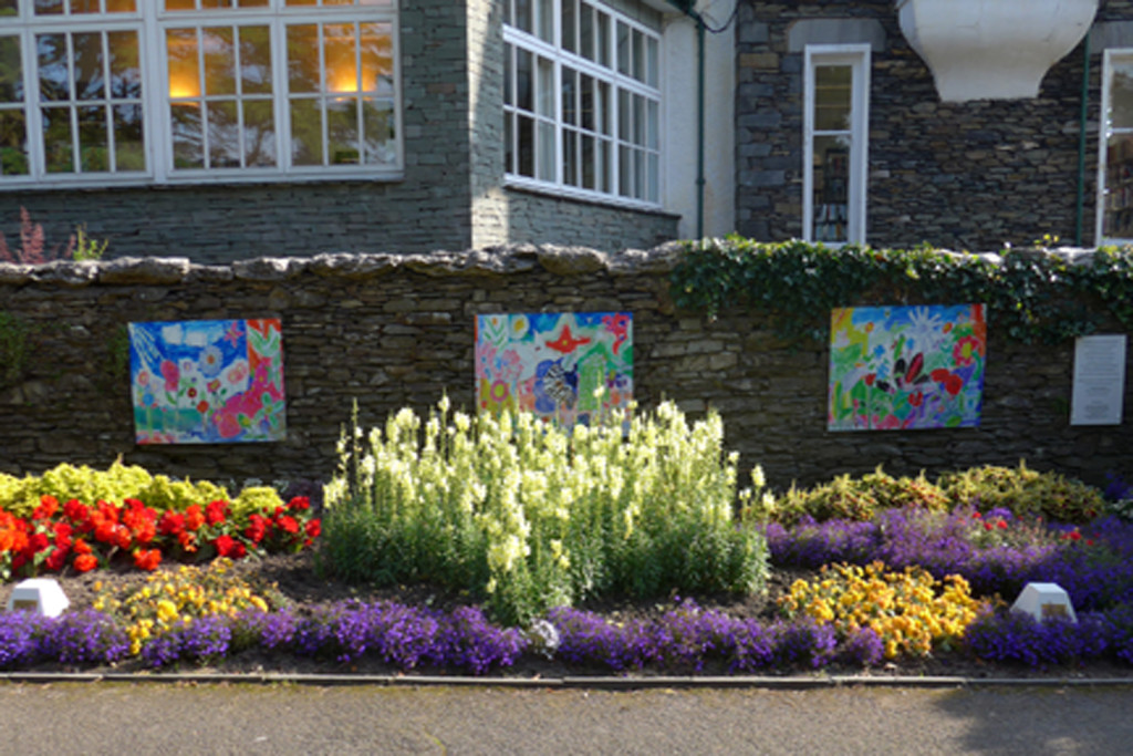 Gardens planted at Windermere by schoolchildren. © Another Space