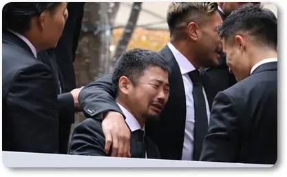 田中史朗,号泣