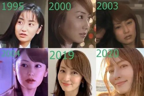 矢田亜希子,若い頃,現在比較