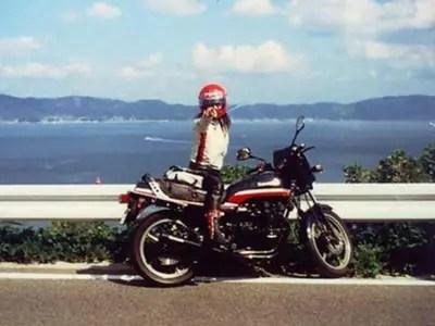 高市早苗,若い頃,バイク