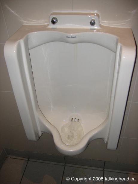 Paper in a urinal