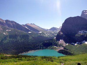 View from our trail ending point, Glacier National Park, MT
