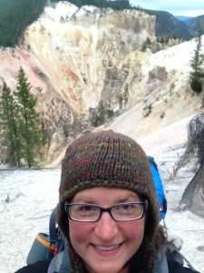 Me at the rim of Grand Canyon of Yellowstone, Yellowstone National Park, WY