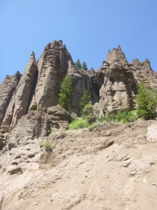 Rock formations seen on our way to Cody, WY