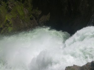 Waterflow over Upper Falls, Yellowstone National Park, WY