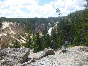 Lower Falls from a distance, Yellowstone National Park, WY