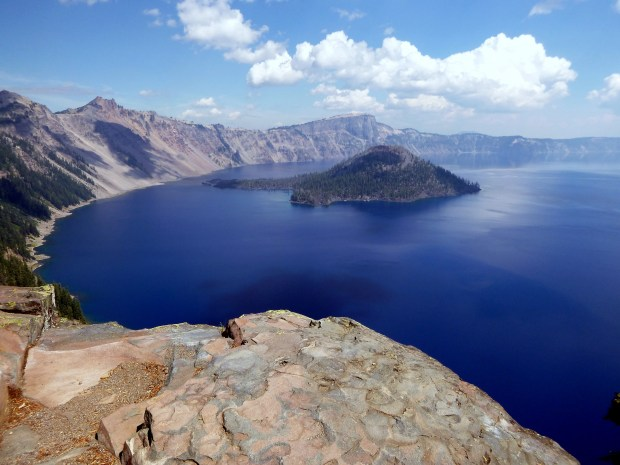 Crater Lake from along Discovery Point Trail, Crater Lake National Park, Oregon