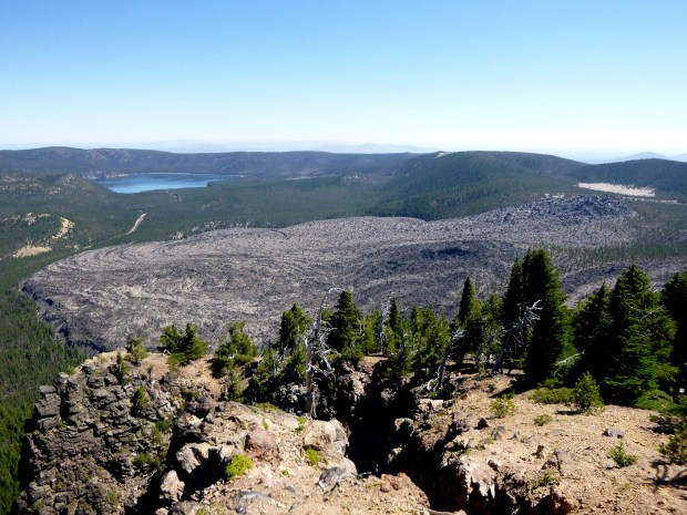 View of lava field from Paulina Peak, Newberry National Volcanic Monument, Oregon