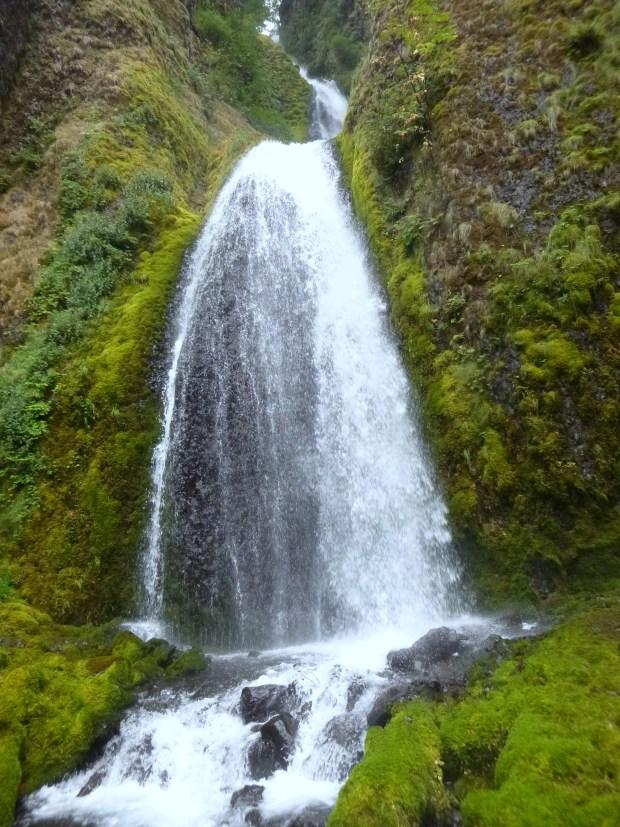 Top cascade of Wahkeena Falls, Oregon