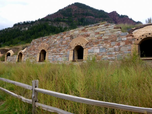 Row of coke ovens with masonry facing, Redstone, Colorado