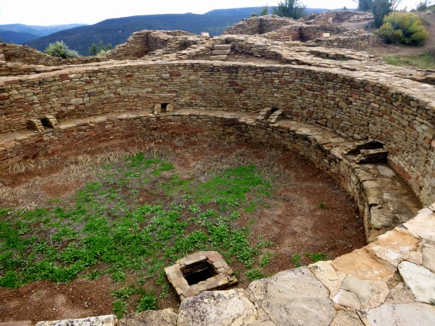 East Kiva with rooms behind in Great House, construction ca. 1076 AD, Chimney Rock National Monument, Colorado
