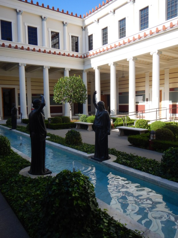 Inner Peristyle garden with pool, Getty Villa, Los Angeles, California