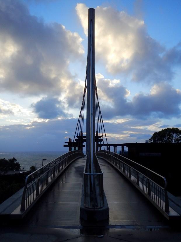Scripps Crossing Bridge at Scripps Oceanographic Institute, San Diego, California