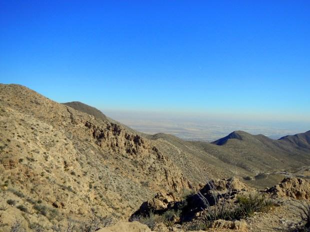 View towards the city of El Paso, Ron Coleman Trail, McKelligon Canyon, El Paso, Texas