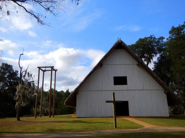 Convento or church, Mission San Luis de Apalachee, Tallahassee, Florida