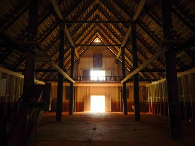 Interior of church, Mission San Luis de Apalachee, Tallahassee, Florida