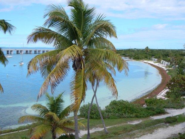 View from atop Old Bahia Honda Bridge, Bahia Honda State Park, Big Pine Key, Florida