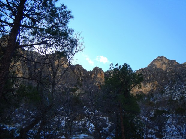 View of the mountains, Devil's Hall Trail, Guadalupe Mountains National Park, Texas