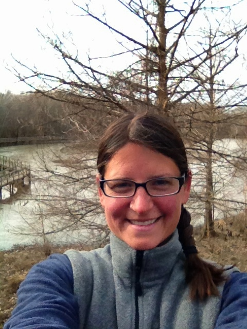 Me in the observation tower overlooking Wood Deer Lake, Cypress Grove Nature Park, Jackson, Tennessee