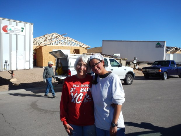 Me with my favorite framing partner Mary Jo, Habitat for Humanity Build, Las Cruces, New Mexico
