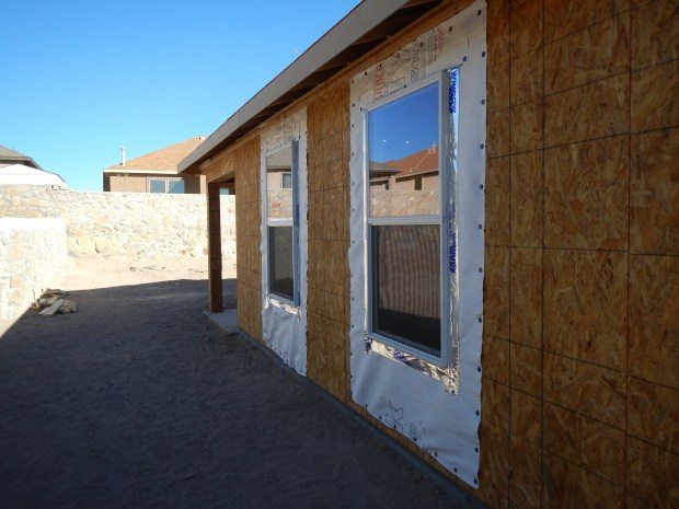 Windows I helped to flash and install, Habitat for Humanity Build, Las Cruces, New Mexico