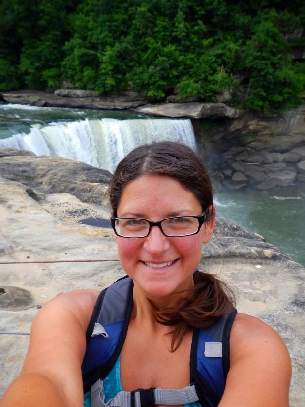 Me near for the top of Cumberland Falls, Cumberland Falls State Park, Kentucky