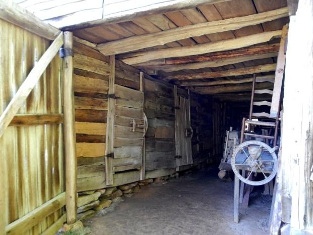 Inside of barn, Hensley Settlement, Cumberland Gap National Historical Park, Kentucky