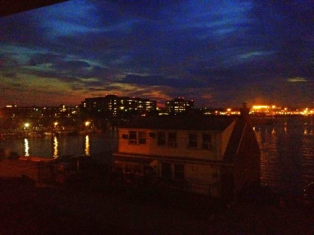 Rainbow sunrise, New London, Connecticut