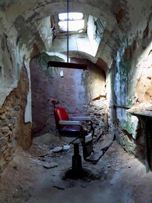 Barber's chair, Eastern State Penitentiary, Philadelphia, Pennsylvania