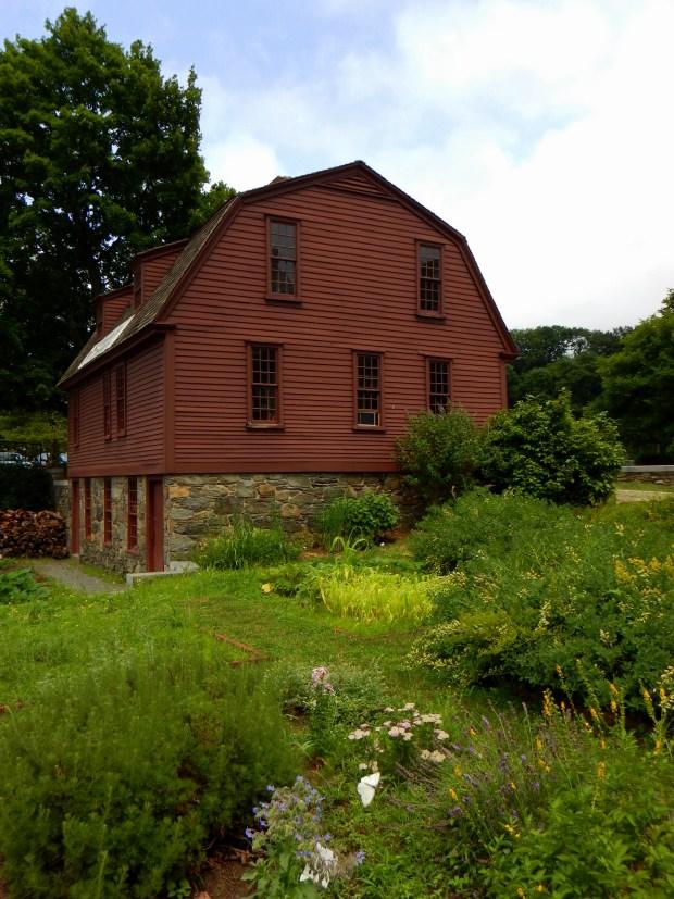 Sylvanus Brown House and medicinal herb garden, Slater Mill Historic Site, Pawtucket, Rhode Island
