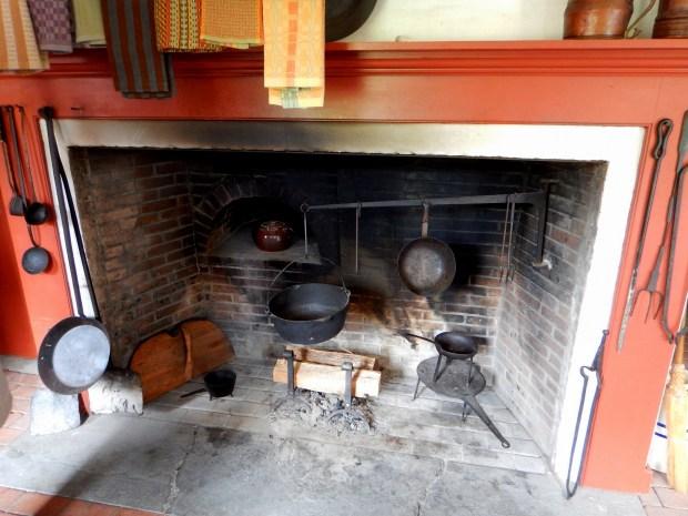 Kitchen fireplace, Sylvanus Brown House, Slater Mill Historic Site, Pawtucket, Rhode Island