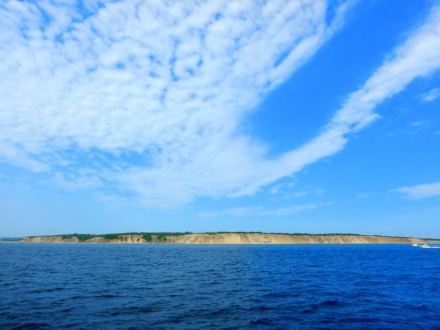 Block Island from the ferry, Rhode Island