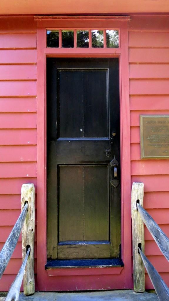 Front door, Gilbert Stuart House, Gilbert Stuart Museum, Saunderstown, Rhode Island