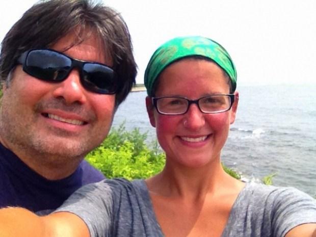 Alex and I on Cliff Walk, Newport, Rhode Island