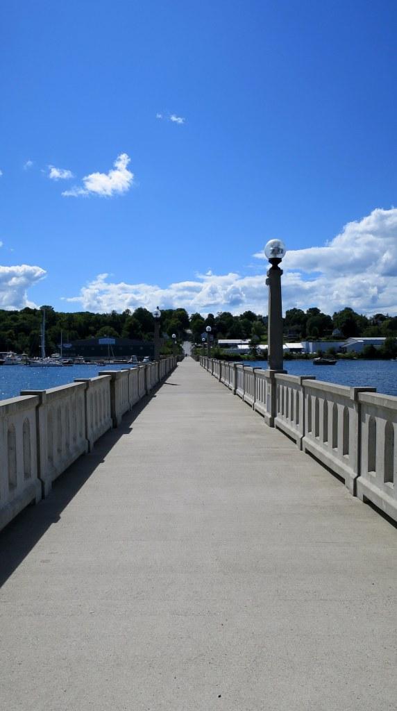 Walking bridge, Belfast, Maine
