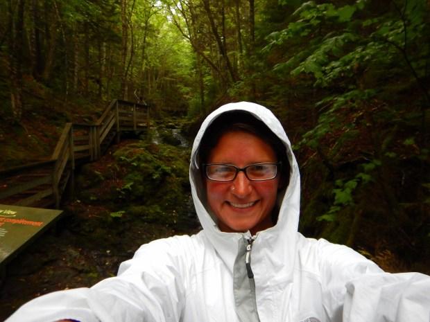 Me, Dickinson Falls  Trail, Fundy National Park, New Brunswick, Canada