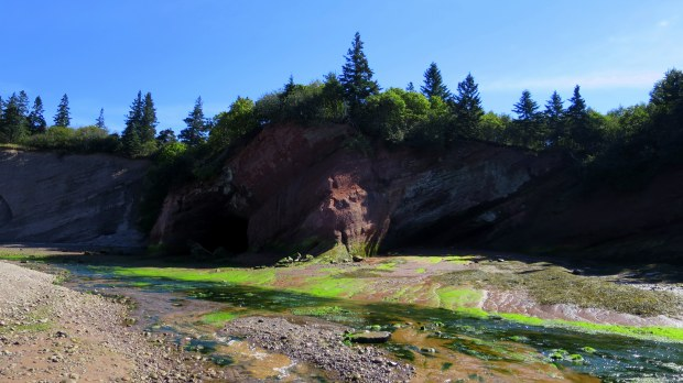 Sea caves, St. Martins Beach, St. Martins, New Brunswick,Canada