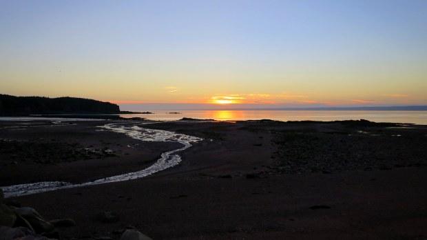 Sunset at Spicer's Cove, Cape Chignecto Provincial Park, Nova Scotia, Canada