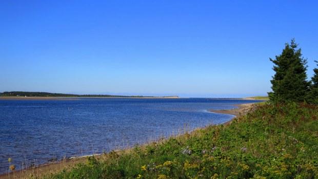 St. Peters Bay from Tlaqatik Trail, Greenwich, Prince Edward Island National Park, Prince Edward Island, Canada