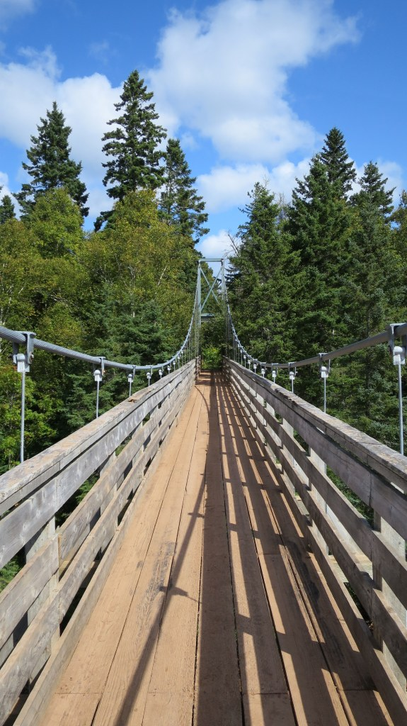 Suspension bridge on Tidnish Trail, Tidnish, Nova Scotia, Canada