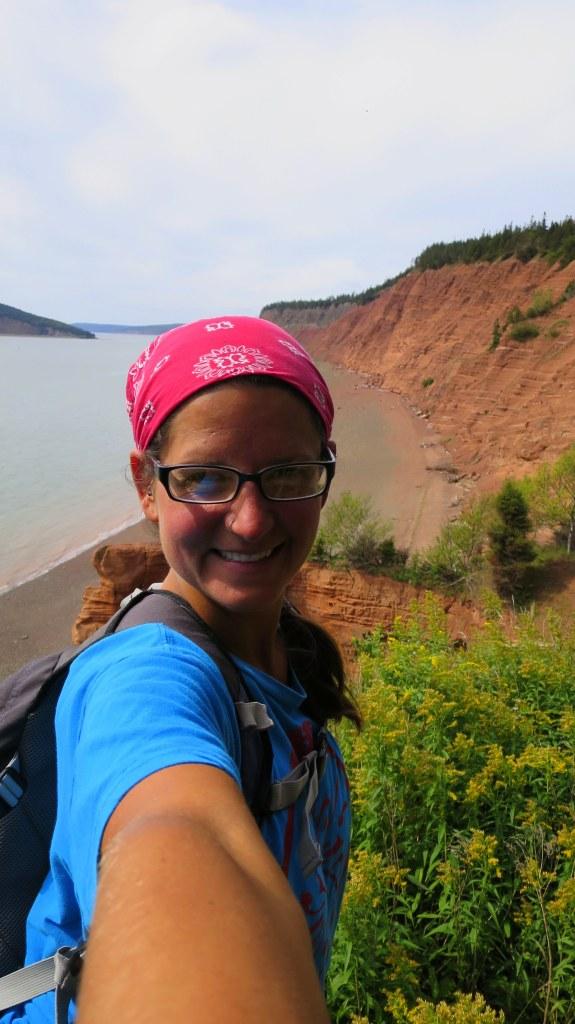 Me, Red Head Trail, Five Islands Provincial Park, Nova Scotia, Canada