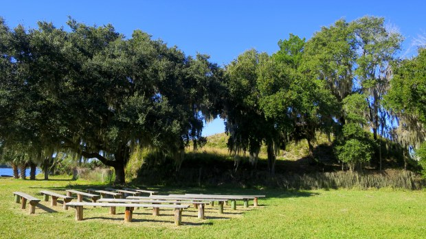 Temple Mound A, ca. 600 AD, Crystal River State Archaeological Site, Florida
