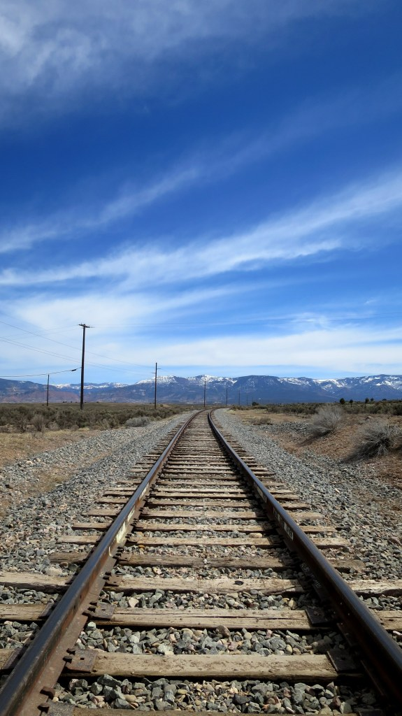 Old rail tracks, Iron Mountain District, Cedar City, Utah