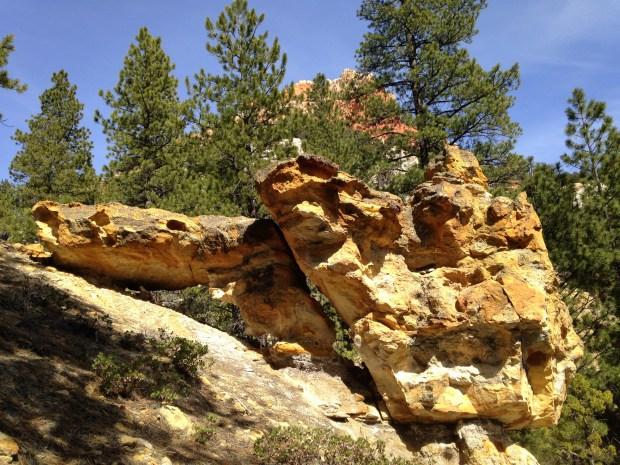 Balancing sandstone, Dixie National Forest, Utah