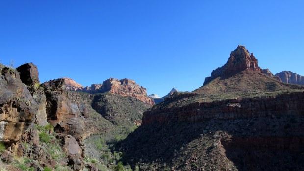 Descending into La Verkin Creek Canyon, Zion National Park, Utah