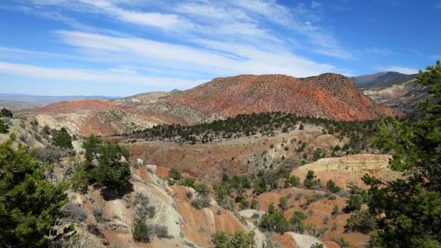 Colored hills, Cedar City, Utah