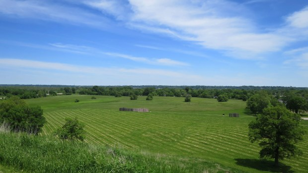 Looking east from Monks Mound, Cahokia Mounds State Historic Site, Illinois