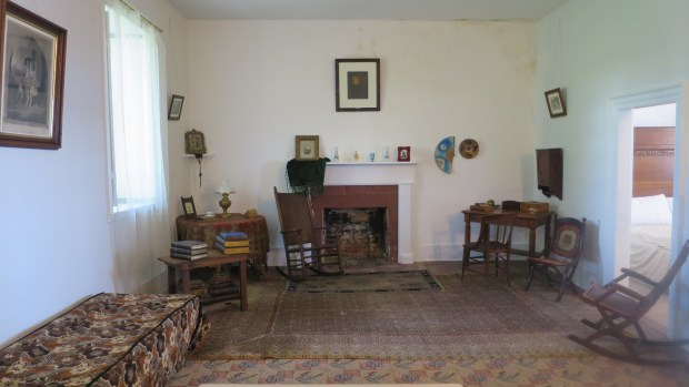 Interior of Officers Stone Quarters, 1780, Fort Mackinac, Mackinac Island, Michigan