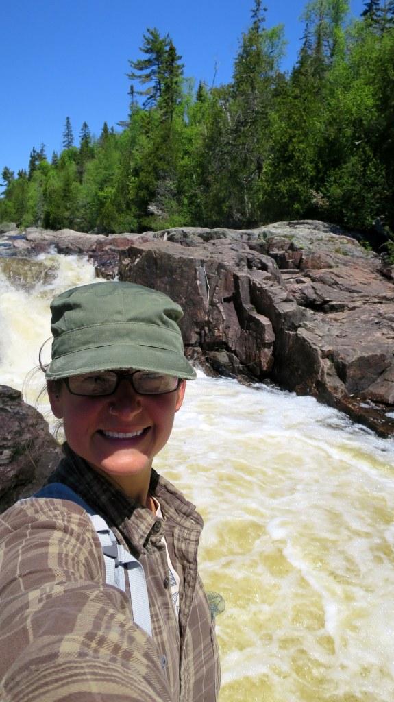 Me near the trailhead, Pinguisibi Trail, Lake Superior Provincial Park, Ontario, Canada